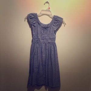 Small denim print dress